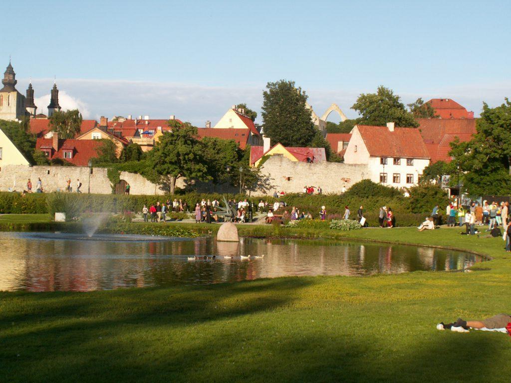Almedalen, Gotland, foto region Gotland