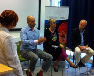 Vad är kulturen till för, Almedalen 2013, Gunilla Kindstrand, Nima Sanandaji, Lisa Pelling, David Karlsson Foto Linde Sjöstedt