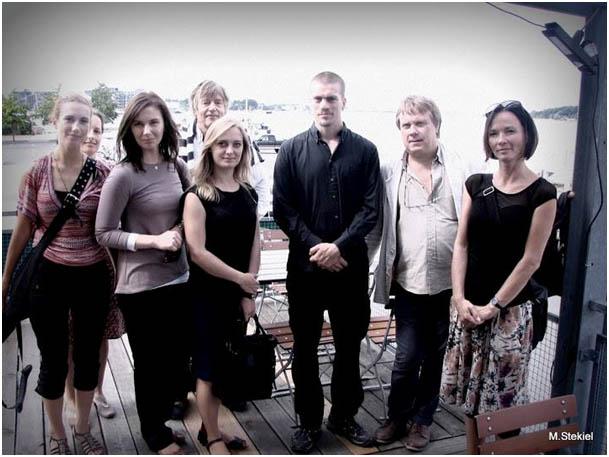 Ciconia nätverkar i Rostock. Monika (PL), Kristina (D), Monika (PL), Jon (DK), Agnieszka (PL), Fredrik (S), Micke (S), Simone (D). Foto M. Stekiel