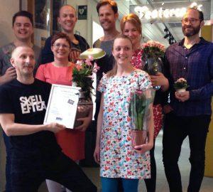 Stolta och glada mottagare av Bris priset 2015, foto UngHästen