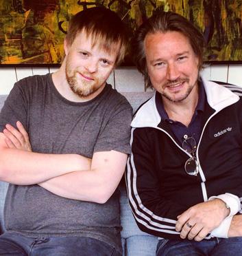 Björn Högberg och Robert Fransson i Konsten att älska utan att dö, foto Anna Widmark